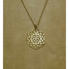 FLOWER OF LIFE brass necklace metatron