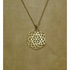 FLOWER OF LIFE brass necklace metatron