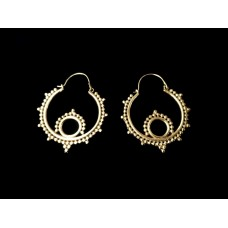 NEW! Tribal dot hoops