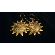 Om sun earrings
