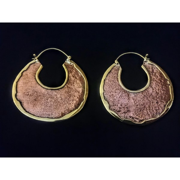 metal plate earrings