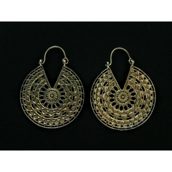 Mandala power earrings