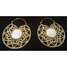 big mandala earrings nacre shell