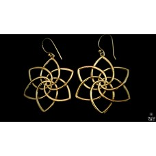 Geometrical Lotus earrings