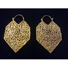 brass shades earrings