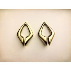 Triangle ear weights white brass