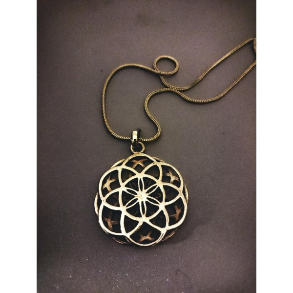 flower of life 3D necklace