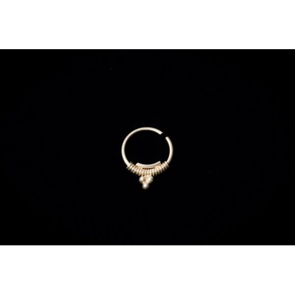 silver dot septum ring