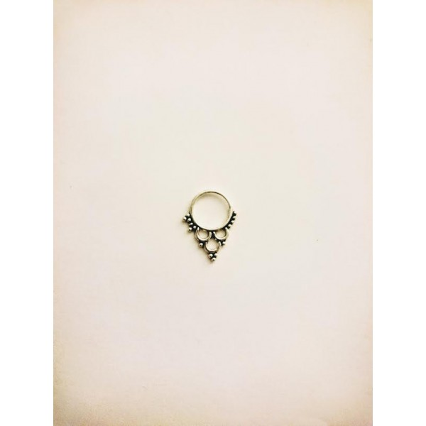 pointy septum ring silver