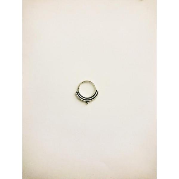 Tribal septum sterling silver nose ring